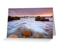Tidal Waters - Porth Nanvan Greeting Card