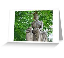 Traditional Stone Sculpture Greeting Card