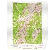 USGS Topo Map Oregon He Devil 282566 1957 62500 Poster