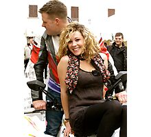 blonde need fun( Motorcycle rally in Firenze /italy) Photographic Print