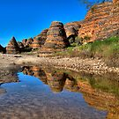 Dome Reflections in Picininny Creek - The Bungle Bungles. by Alwyn Simple