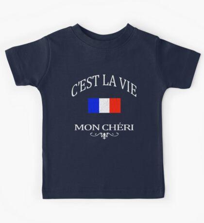 C'est la vie, mon cheri (vintage distressed look) Kids Tee