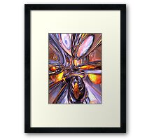 ludicrous Voyage Abstract Framed Print