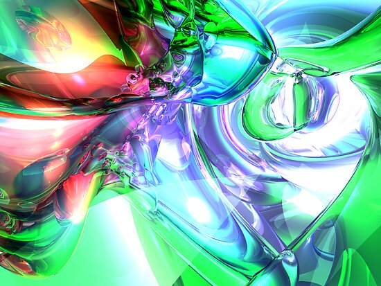 Disorderly Color Abstract by Alexander Butler