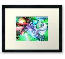 Disorderly Color Abstract Framed Print