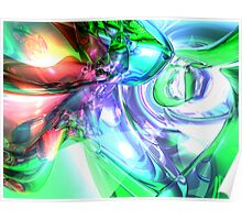 Disorderly Color Abstract Poster