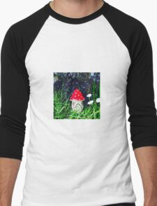 Magical, vibrant Toadstool Men's Baseball ¾ T-Shirt