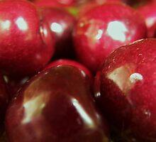 Juicy Plump Ripe Red Cherries by MaggieO
