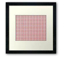 Judo Text Background Red Framed Print