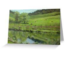 Pond at the Vineyard Greeting Card