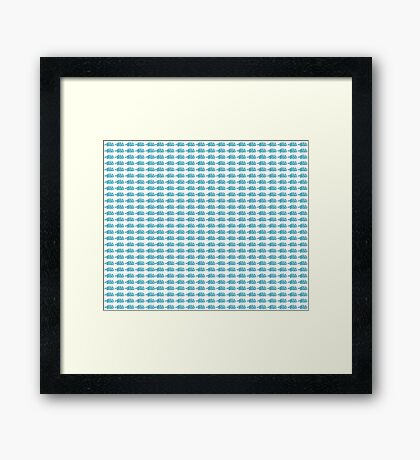 Judo Text Background Blue  Framed Print