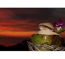coconut sunset Photographic Print