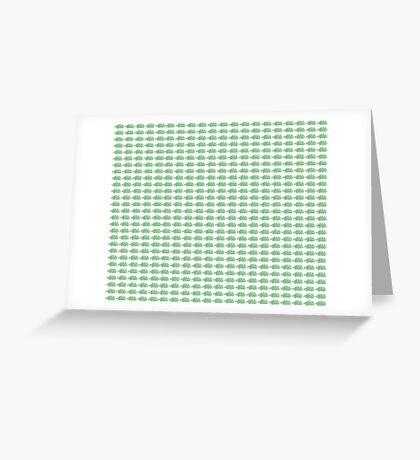 Judo Text Background Green  Greeting Card