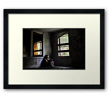 """""""Contentment"""" Self Portrait, Abandoned House, CT Framed Print"""
