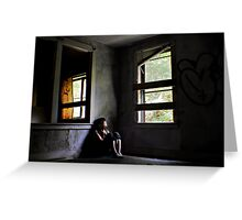 """""""Contentment"""" Self Portrait, Abandoned House, CT Greeting Card"""