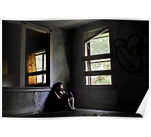 """Contentment"" Self Portrait, Abandoned House, CT Poster"