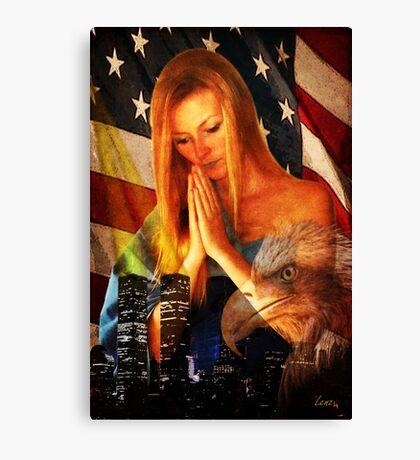 Pray For Our Country Canvas Print