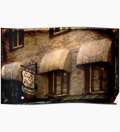 Cafe Awnings, Quebec City Poster