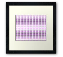 Judo Text Background Purple  Framed Print