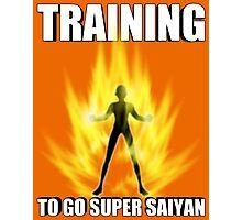 Training for Super Saiyan Photographic Print