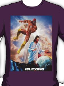 The rapture on the ropes. Macho man vs. Jesus. T-Shirt