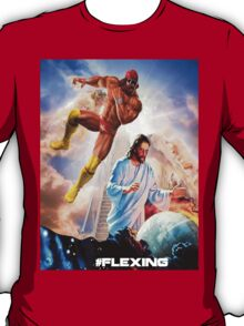The rapture on the ropes. Macho man vs. Jesus. T-Shirt