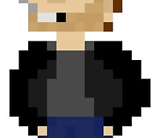 Pixel Hank Moody by MEGATRUCK