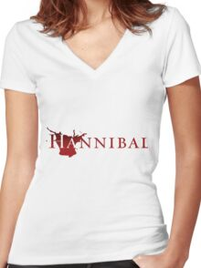 NBC Hannibal Women's Fitted V-Neck T-Shirt