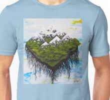 Home, The Floating Land Mass in Space Unisex T-Shirt