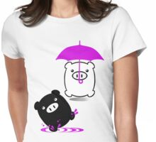 TWINPIGS 3 (PINK) Womens Fitted T-Shirt