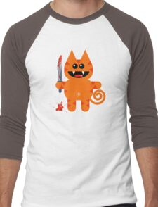 KAT 2 (Cute pet with a sharp knife!) Men's Baseball ¾ T-Shirt