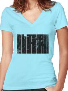 Chicken Sashimi Women's Fitted V-Neck T-Shirt