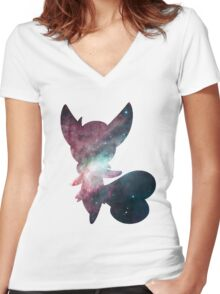 Meowstic (Female) used future sight Women's Fitted V-Neck T-Shirt