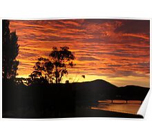 Sunset over Ulverstone Poster