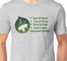 Caution: Witch at Work! Recipe Version Unisex T-Shirt