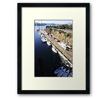 Woolwich Dock and Harbour Bridge Framed Print