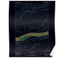 USGS Topo Map Washington Irrigon 241672 1962 24000 Inverted Poster