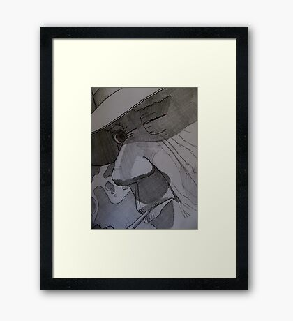 Cathy Unearthed Drawing 2 Framed Print
