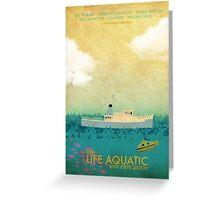 The Life Aquatic Film Poster Greeting Card