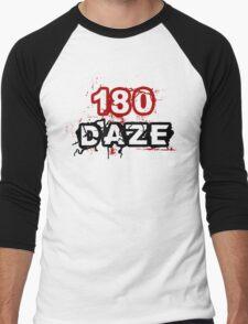 180 DAZE - Full Chest_Black Men's Baseball ¾ T-Shirt