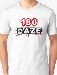 180 DAZE - Full Chest_Black Unisex T-Shirt
