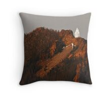 Our Lady of the Rockies Throw Pillow