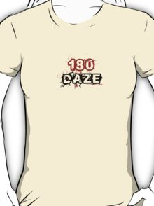 180 DAZE - Chest_Black T-Shirt