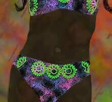 Multi-colored Bikini Abstract woman  by kreativekate
