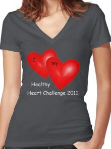 Healthy Heart Challenge II Women's Fitted V-Neck T-Shirt