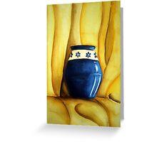 Blue Pot Greeting Card