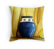 Blue Pot Throw Pillow
