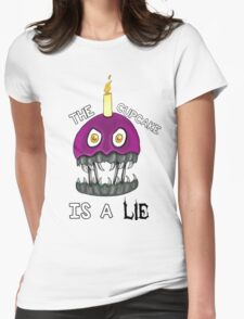 ☆The Cupcake Is A LIE☆ Womens Fitted T-Shirt
