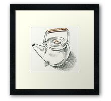 Drawing Day - Teapot Framed Print