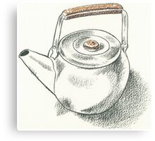 Drawing Day - Teapot Canvas Print